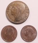 obverse: Casa Savoia. Lotto di tre monete. Notati 10 centesimi 1943 Impero, centesimo 1814, centesimo 1915. Conservazioni ottime.