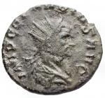 obverse: Varie - Claudio II. Antoniniano. Diametro mm. 20,5. Peso gr. 2,73. Patina verde.