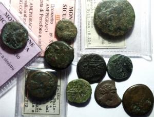 obverse: Lotti. Mondo Greco. Lotto di 10 monete di area magno greca. Mediamente BB.__