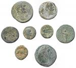 obverse: Lotti - Mondo greco e Romano. Insieme di 8 pezzi in Ae. Notati sesterzio di Settimio Severo e Marco Aurelio. Patine.