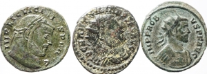 obverse: Lotti. Impero Romano. Lotto di 3 monete Imperiali da Carino a Licinio, buone conservazioni.