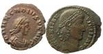 obverse: Lotti. Impero Romano. Lotto di 2 monete Costanzo II e Arcadio, buona conservazione.w