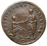 reverse: Medaglie - Paduan Style Medal imitating an Bronze Sestertius HADRIAN, A.D. 117-138. (25,06 gms.. 32,5 mm)