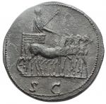 reverse: Medaglie - Paduan (or Paduan Style) Medal imitating an Æ Sestertius of Marcus Aurelius, as Caesar, Ӕ Sestertius. Struck under Antoninus Pius. AVRELIVS CAESAR AVG PII F COS II, bare head right, with slight drapery on far shoulder / Marcus Aurelius in slow quadriga right, holding eagle tipped sceptre; SC in exergue. 22,2g, 30,3 x 30,5mm. Good Very Fine + For authentic example see RIC 1246