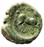 obverse: Mondo Greco. Apulia. Arpi. 275-250 a.C. Bronzo. D/ Toro verso sinistra. R/ Cavallo al galoppo verso destra. SNG ANS 645. Peso 9,57 gr. Diametro 22,62 mm. BB+\qBB. Patina verde.