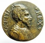 obverse: Medaglie. Aquileia. Medaglia del 1600. Attila e veduta della città. Diametro 50,00 mm. qFDC. RR.\\