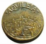 reverse: Medaglie. Aquileia. Medaglia del 1600. Attila e veduta della città. Diametro 50,00 mm. qFDC. RR.\\