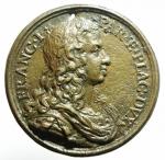 obverse: Medaglie. Parma. Francesco Farnese. 1694-1727. La Giustizia e la Religione davanti ad un tempio. Hamerani. Diametro 51,00 mm. SPL. Forellino.\\
