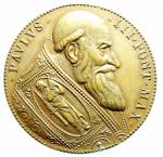 obverse: Medaglie. Paolo III. 1534-1549. Riconio del XIX secolo. La cacciata dei profanatori del tempio. Diametro 32,00 mm. SPL+\FDC.\\