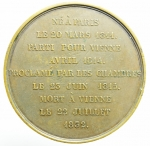reverse: Medaglie. Francia. Napoleone II. Nato a Parigi il 20 Marzo 1811. Peso 63,87 gr. Diametro 51,50 mm. SPL. Ex Hamporium Hamburg \\