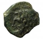 obverse: Mondo Greco. Apulia. Arpi. 217-213 a.C. Obolo. Ae. D\ Testa di Zeus verso sinistra. R/ Cavallo al galoppo verso sinistra, sopra una stella, sotto monogramma di Arpi. Peso 3,40 gr. Diametro 18,00 mm. BB\SPL.