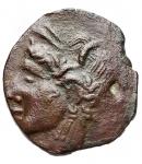 reverse: Mondo Greco - Dominio Cartaginese. Sardinia. ca 241-238 a.C. Ae. D/ Tanit - Kore a sinistra. R/ Tre spighe.Piras 174; SNG Copenhagen 251-2. Peso gr. 1,87.BB+.