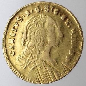 Palermo. Carlo di Borbone. 1734-1788. Oncia 1755. Au.