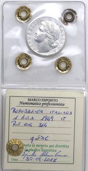 D/ Repubblica Italiana. 1 lira 1949 Arancia. It. Gig 364. qFDC. Perizia Marco Esposito.