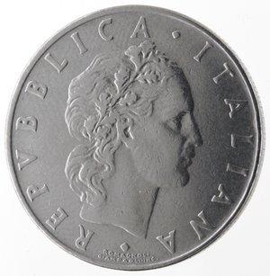 D/ Repubblica Italiana. 50 lire  1958 Vulcano. Ac. Gig.147. BB+. R.
