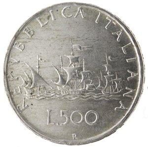 R/ Repubblica Italiana.500 Lire 1960 Caravelle. Ag. Gig. 10. qSPL. Colpetti.