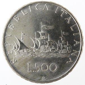 R/ Repubblica Italiana.500 Lire 1961 Caravelle. Ag. Gig. 11. qFDC.NC.