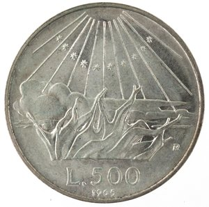 R/ Repubblica Italiana. 500 Lire 1965 Dante. Ag. Gig. 42. FDC.
