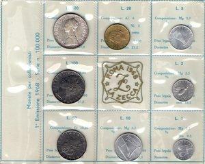 D/ Repubblica Italiana. Serie divisionale 1968. 9 valori con 500 Lire. Ag. Gig. S.1. FDC. In confezione originale della Zecca.