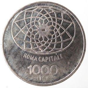 R/ Repubblica Italiana. 1.000 lire Roma Capitale 1970. Gig. 1.  FDC eccezionale. Fondi lucenti.