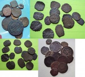 D/ Lotto di 52 monete medievali, rinascimentali e Stati preunitari in conservazione da B a MB si notano monete dello Stato Pontificio, Grani siciliani, Grani palermitani, frazioni di Follaro del sud Italia, monete napoletane e milanesi, monete napoleoniche (NON SI ACCETTANO RESI)