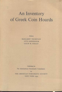D/ AA. VV. - An inventory of Greek Coin Hoard. New York, 1973. pp. 408, 3 maps. ril. editoriale, buono stato, opera importante