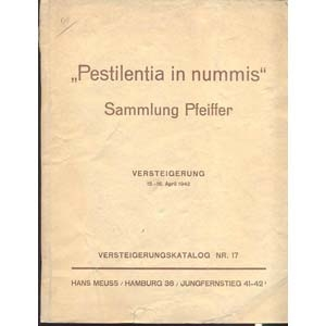 D/ MEUSS H. - Katalog N° 17. Hamburg 15- April - 1942.  Sammlung Pleiffer;