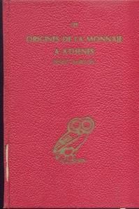 D/ BABELON E. - Les origines de la monnaie a Athenes. Chicago, 1979. pp. 92, illustrazioni nel testo. ril. editoriale, dorso sciupato, buono stato