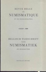 D/ AA. VV. Revue belge de numismatique et de sigillographie. CXXXV, Bruxelles, 1989. pp. 296, tavv. 12, + ill. nel testo. ril. editoriale, buono stato, importanti articoli