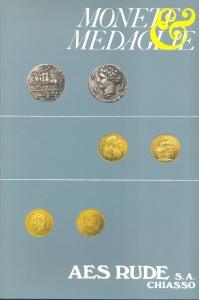 obverse: AES RUDE s.a. – Lugano, 5/6-Aprile-1984. Asta n. 10. Monete greche, romane, bizantine, medioevali, e moderne, medaglie. pp. 45, nn. 938, tavv. 46.
