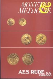 obverse: AES RUDE s.a. – Lugano, 4/5-Aprile-1985. Asta n. 11. Monete greche, romane, bizantine, medioevali, e moderne, medaglie. pp. 52, nn. 1011, tavv.48.