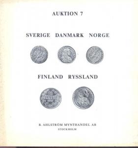 obverse: AHLSTROM B. MYNTHANDEL AB. - Auktion 7. Stockolm 9/10 November 1974. Munzen und medaillen Sverige, Danmark, Norge, Finland, Ryssland. pp. 116, nn. 1221, ill. b/n.