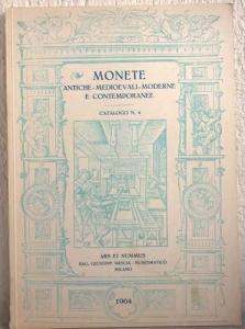 obverse: ARS ET NUMMUS – Milano, 5-6 giugno 1964. Monete antiche medievali e moderne e contemporanee. Catalogo n. 4. pp. 23, nn. 508, tavv. 30 raro