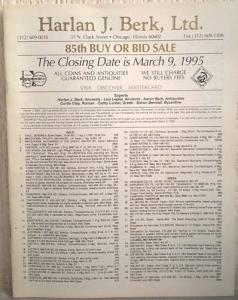 obverse: BERK HARLAN LTD. – Chicago, 9 march 1995. 85th buy or bid sale. pp. 11, nn. 675, tavv. 25