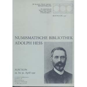 D/ BUSSO PEUS NACHF. - Frankfurt a.M., 29-30 Aprile 1991. Numismatische Bibliothek Adolph Hess. pp. 183, nn.2746 Lista prezzi aggiudicazioni, importante biblioteca rara