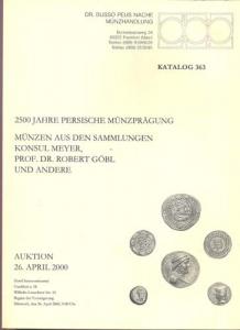 obverse: BUSSO PEUS NACHF. - Frankfurt a.M. 26 April 2000. 2500 jahre persische munzpragung. Munzen aus den sammlungen Konsul Mayer, Prof. Dr. Robert Gobl. uns andere. pp. 99, nn. 5001-6493, tavv. 58. importante vendita.