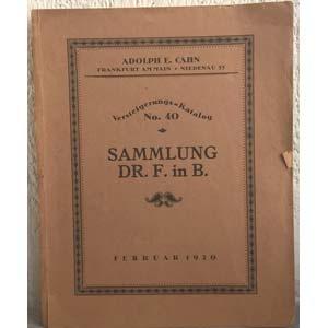 obverse: CAHN A. E. – Frankfurt am Main, vom 26 bis 26 februar 1920. Versteigerung-katalog Nr. 40. Sammlung Dr. F. in B. Romische Kaisermunzen pp. 49, nn. 1338