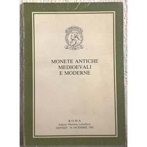 obverse: CHRISTIE S.- Roma 16 Dicembre 1982. Monete antiche medioevali e moderne. pp. 56, nn. 485, tavv. 15. lpv