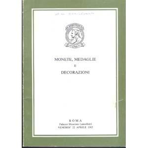 obverse: CHRISTIE S.- Roma 22 Aprile 1983. Monete, medaglie e decorazioni. Importante collezione di Stateri corinzi. pp. 58, nn. 596, tavv. 7. raro e importante