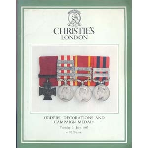 obverse: CHRISTIE'S. London 21 July 1987. Orders, Decoration and campaign medals. pp. 57, nn. 260, ill. b/n.