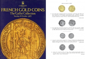 obverse: CHRISTIE S. London 6 October 1987. French gold coins. the Gallia  Collection. pp. 97, nn. 344, ill b/n e colori.