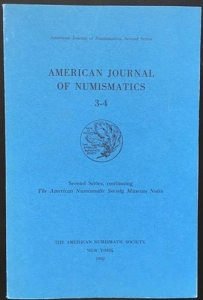 obverse: AA. VV. – American journal of numismatics. 3-4. Second series, continuing The American Numismatic Society. Museum notes. New york, 1992. pp. 270, tavv. 17.