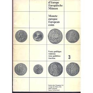 obverse: GALERIE DES MONNAIES GmbH. Lausanne-Ouchy, 2- Decembre 1966. Auction 3. Une selection europeenne de monnaies et medailles rares. pp. 54 nn. 400, tutti ill. b/n