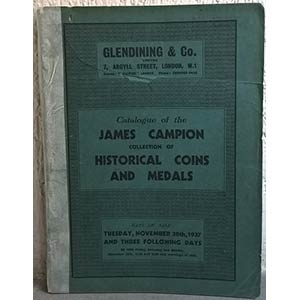 obverse: GLENDINING & Co. – London, November 30th 1937. Catalogue of James CAMPION. Collection of historical coins and medals. pp. 99, nn. 1018, tavv. 18. molto raro