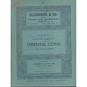obverse: GLENDINING & Co. London 30- June - 1965. Catalogue of an important of Oriental coins in gold, silver and bronze. pp.50, nn. 624, tavv. 20. importante e raro