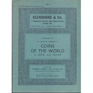 obverse: GLENDINING & Co. London 10-11- June, 1970. Catalogue of an important collection of Coins of the Wordl in gold and silver. pp. 59, nn. 950, tavv. 22. p.agg. manoscritti.