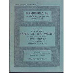 obverse: GLENDINING & Co. London 22-23- November, 1972. Catalogue of gold and silver Coins of the World, including an exstensive series of coins of South America and choice coins of europe and Asia. pp. 80, nn. 1054, tavv. 40.