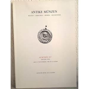 obverse: HESS A. – Luzern, 12 november 1986. Auktion 257. Antike munzen. Kelten – Griechen – Romer - Byzantiner. pp. 45, nn. 541, tavv. 20