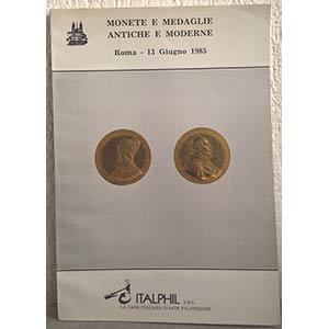 obverse: ITALPHIL SRL – Roma, 13 giugno 1985. Monete e medaglie antiche e moderne. pp. 76, nn. 653, tavv. 20.