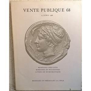 obverse: MUNZEN UND MEDAILLEN AG. – Bale, 15 avril 1986. Auktion 68. Monnaies grecques, romaines et byzantines. Livres de numismatique. pp. 68, nn. 625, tavv. 31.